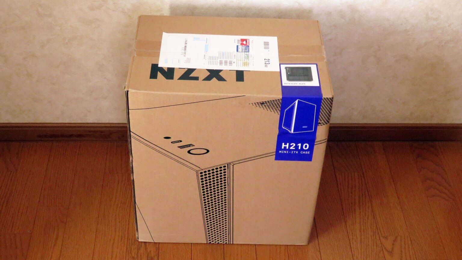 Mini-ITX専用PCケース NZXT H210 MATTE BLACK / BLACKを購入!