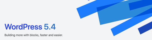 "WordPress 5.4 ""Adderley""メジャーリリースにアップデート完了"