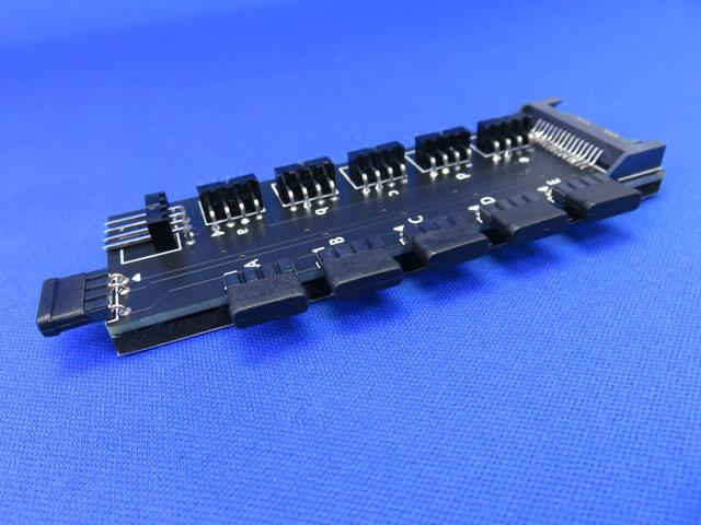 AINEX アドレサブルLED 5分岐/ファンPWM信号5分岐基板について
