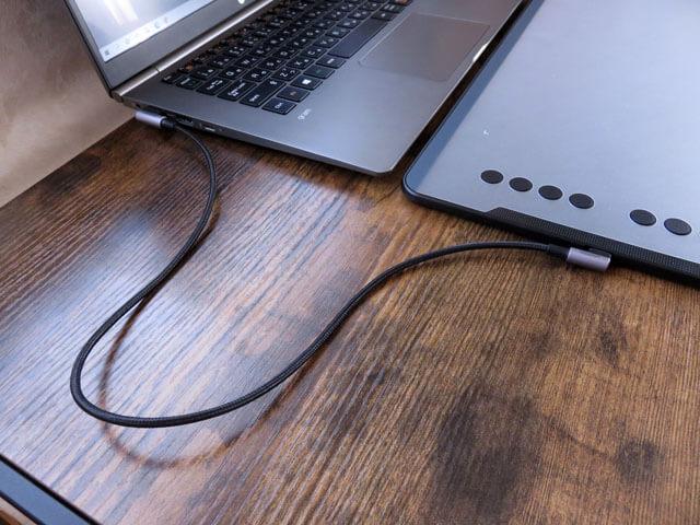 ペンタブで使うUGREEN USB Type-C L字 ケーブル 0.5mを購入する