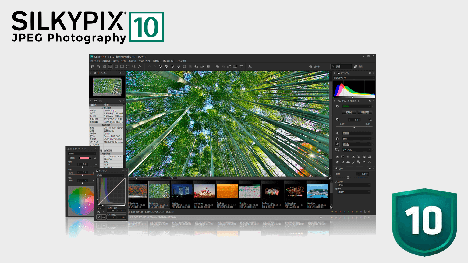期間限定特別価格のSILKYPIX® JPEG Photography 10を購入する!