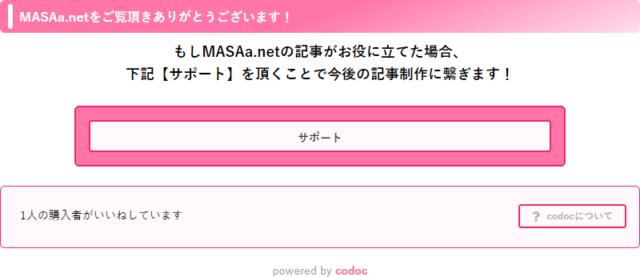 MASAa.netにcodocを設置しました!